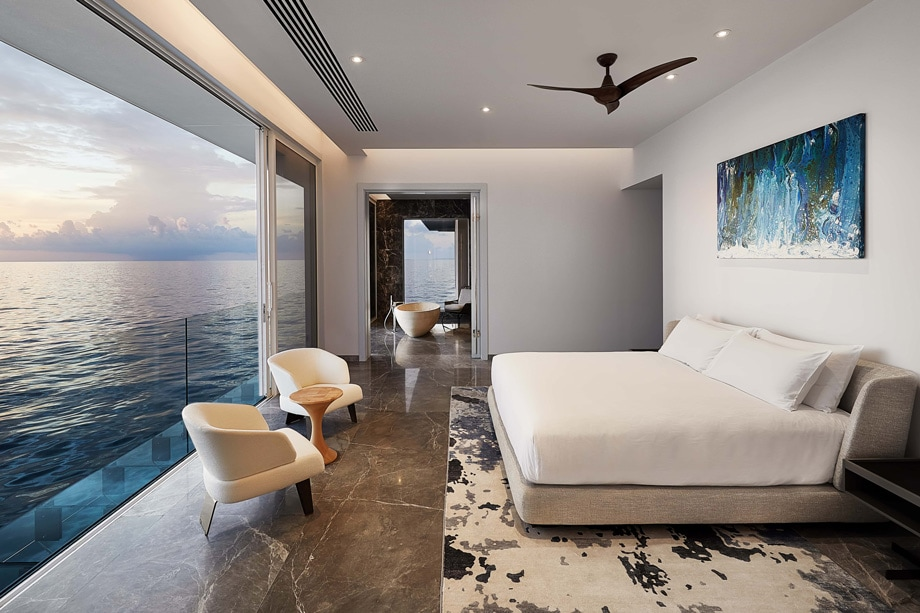 THE MURAKA Overwater Master Bedroom Architectural - ALO Magazine