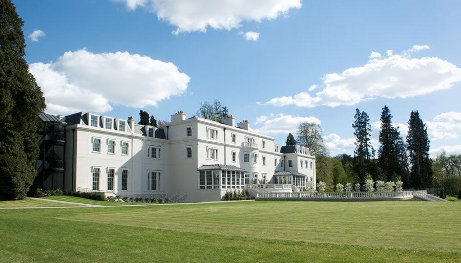 Coworth Park exterior from croquet lawn - ALO Magazine