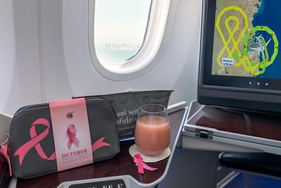Qatar Airways Breast Cancer Awareness Kit - ALO Magazine