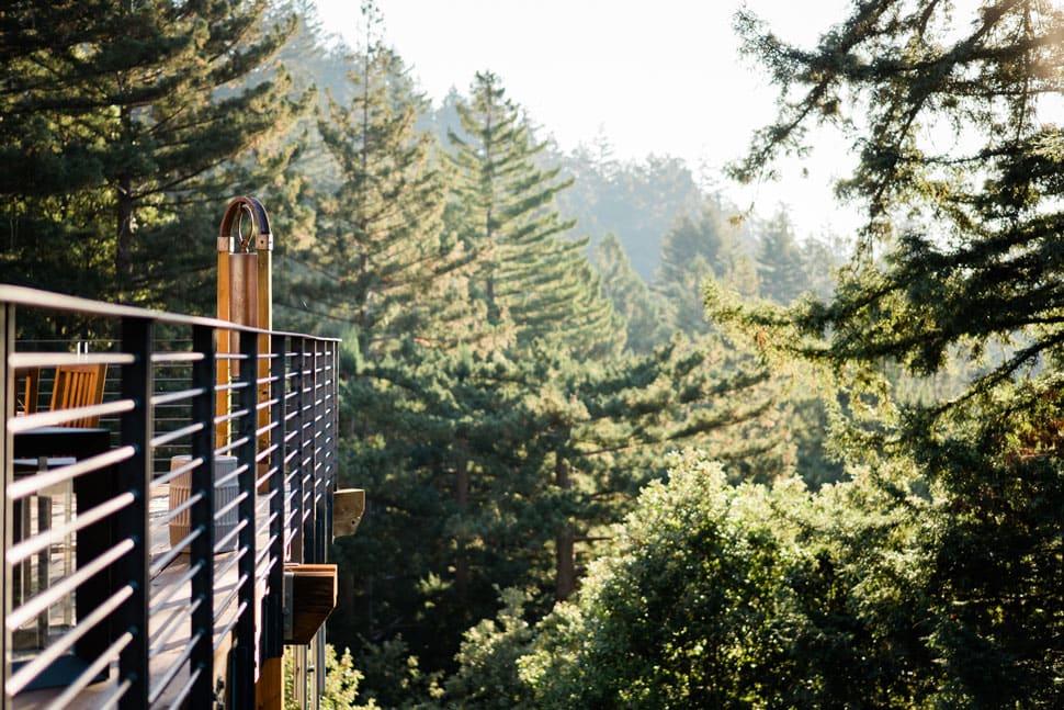 Exterior balcony redwoods canyon ranch woodside - ALO Magazine