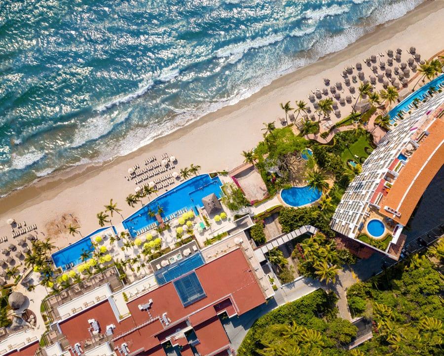 Hyatt Ziva Puerto Vallarta Aerial Overhead - ALO Magazine