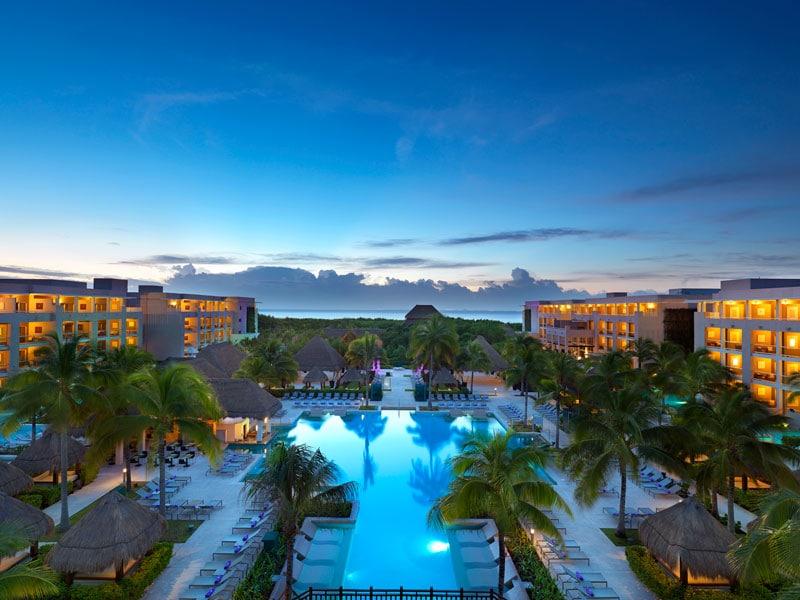 Paradisus Playa Del Carmen Swimming Pool Night - ALO Magazine
