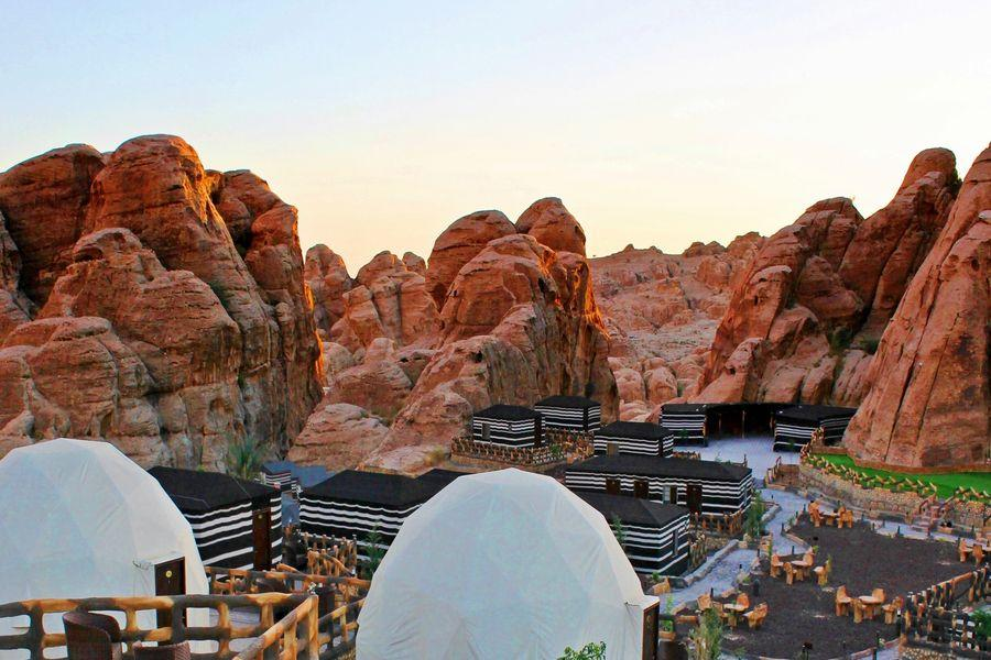 View of Seven Wonders Luxury Camp, Domes and Cabins, Little Petra - ALO Magazine